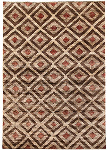 Multi Colored Gabbeh 5' 4 x 7' 6 - No. 67345