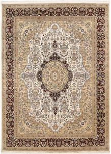 Ivory Isfahan 9' x 12' 4 - No. 67516