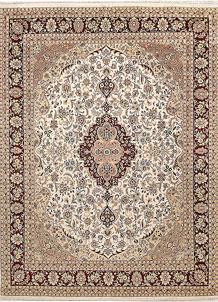 Ivory Isfahan 9' x 12' 1 - No. 67519