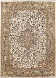 Ivory Kashan 9' 1 x 12' 4 - No. 67529