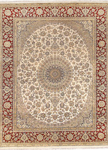 Blanched Almond Isfahan 8' x 10' 2 - No. 67537