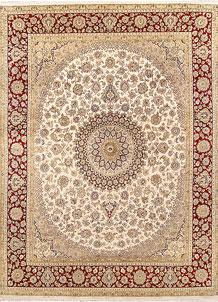 Ivory Isfahan 7' 10 x 10' 5 - No. 67543