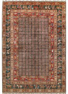 Multi Colored Kazak 6' 11 x 10' - No. 67662