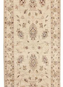 Antique White Oushak 2' 7 x 9' 3 - No. 68125