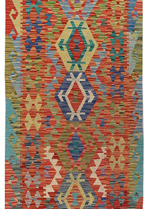Multi Colored Kilim 2' 8 x 13' - No. 68170