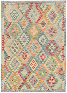Multi Colored Kilim 4' 1 x 5' 9 - No. 68173