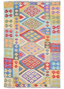 Multi Colored Kilim 4' 2 x 6' 2 - No. 68174