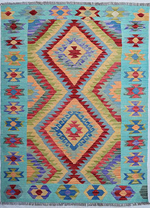 Multi Colored Kilim 4' 1 x 5' 7 - No. 68176