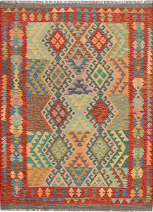 Multi Colored Kilim 4' 4 x 5' 10 - No. 68177