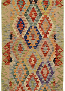 Multi Colored Kilim 2' 10 x 9' 11 - No. 68182