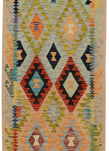 Multi Colored Kilim 2' 9 x 9' 7 - No. 68183