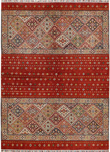 Multi Colored Kazak 6' 8 x 9' - No. 68185