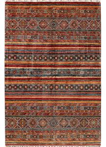 Multi Colored Kazak 7' x 10' 4 - No. 68188