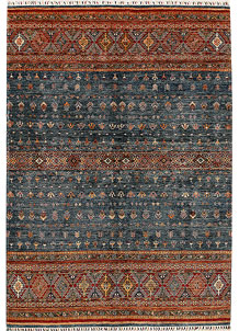 Multi Colored Kazak 6' 11 x 10' - No. 68189