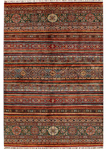 Multi Colored Kazak 7' x 10' 1 - No. 68190