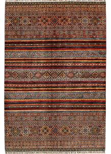 Multi Colored Kazak 6' 8 x 9' 10 - No. 68191
