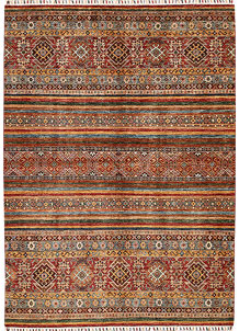 Multi Colored Kazak 5' 8 x 7' 8 - No. 68196