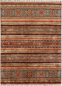 Multi Colored Kazak 4' 11 x 6' 8 - No. 68199