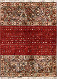 Multi Colored Kazak 4' 8 x 6' 5 - No. 68201