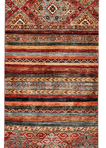 Multi Colored Kazak 2' 8 x 9' 8 - No. 68203
