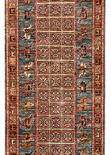 Multi Colored Kazak 2' 8 x 8' 9 - No. 68205