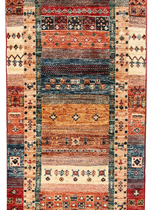 Multi Colored Kazak 2' 7 x 10' 10 - No. 68206