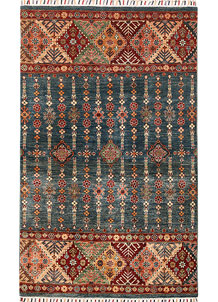 Multi Colored Kazak 4' x 6' 6 - No. 68212
