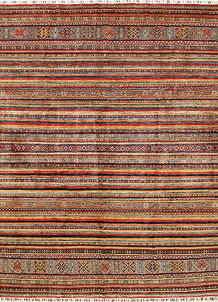 Multi Colored Kazak 9' x 11' 10 - No. 68215