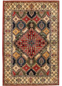 Multi Colored Kazak 6' 5 x 9' 9 - No. 68237