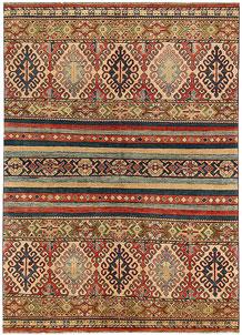 Multi Colored Kazak 4' 9 x 6' 7 - No. 68271