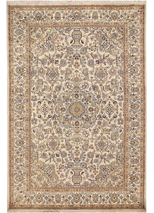 Antique White Isfahan 6' x 9' 2 - No. 68333
