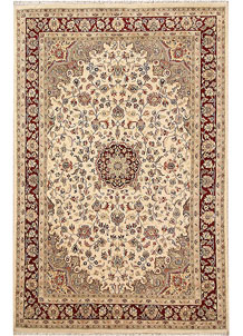 Blanched Almond Kashan 5' 9 x 8' 10 - No. 68353
