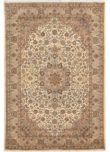 Bisque Kashan 5' 7 x 8' 4 - No. 68365