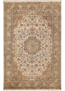 Bisque Kashan 5' 6 x 8' 4 - No. 68367