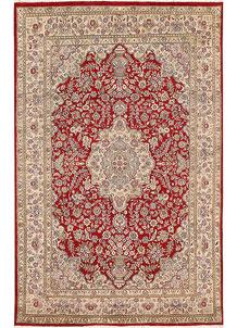 Firebrick Isfahan 5' 6 x 8' 8 - No. 68371