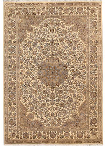Bisque Kashan 5' 6 x 7' 11 - No. 68373