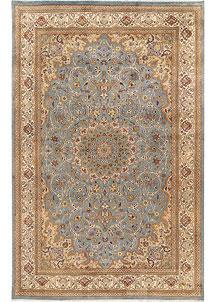 Light Slate Grey Kashan 6' x 9' 3 - No. 68394