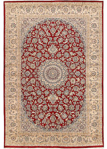 Firebrick Kashan 6' 6 x 9' 6 - No. 68413