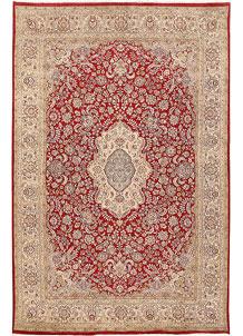 Firebrick Isfahan 6' 5 x 9' 10 - No. 68420