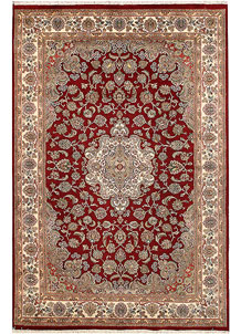 Dark Red Isfahan 6' x 9' - No. 68430