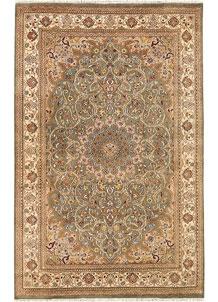 Olive Kashan 4' 6 x 7' 1 - No. 68493
