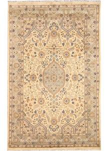 Navajo White Isfahan 4' 11 x 8' - No. 68496