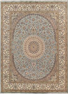 Cadet Blue Isfahan 8' 11 x 12' 3 - No. 68528
