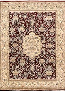 Dark Red Isfahan 9' 1 x 11' 10 - No. 68532