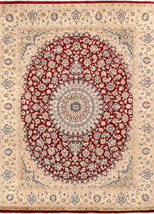 Firebrick Isfahan 8' x 10' 2 - No. 68543