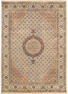 Blanched Almond Tabriz 7' 10 x 11' 3 - No. 68549