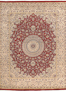 Firebrick Kashan 8' 1 x 10' 4 - No. 68550