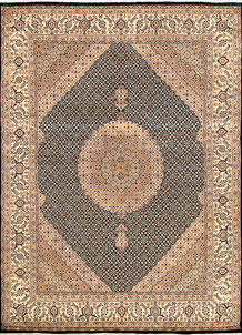 Black Tabriz 7' 11 x 10' 10 - No. 68565