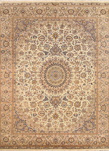 Blanched Almond Kashan 8' x 10' 3 - No. 68567
