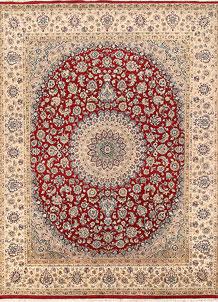 Firebrick Isfahan 7' 10 x 10' 3 - No. 68579